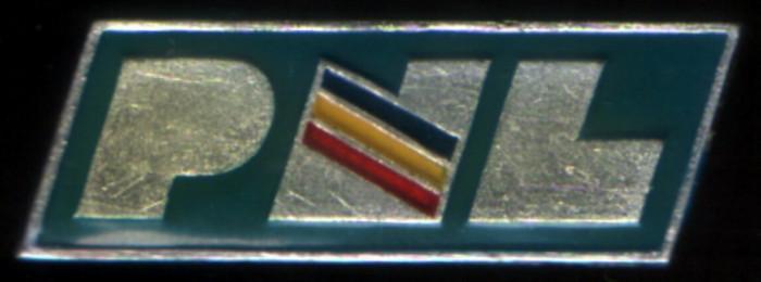 insignă PNL 1990