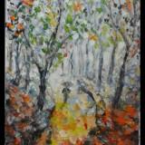 In padure 2-pictura ulei pe panza;MacedonLuiza - Pictor roman, Peisaje, Impresionism