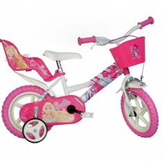 Bicicleta Barbie 126RL, 12 inch - Bicicleta copii Dino Bikes