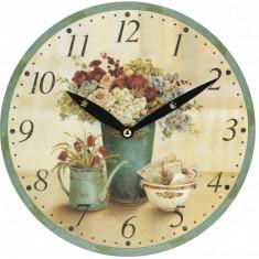 Ceas de perete mix floral