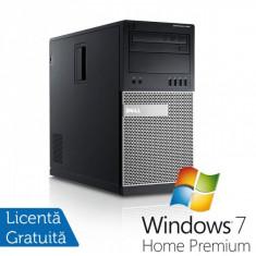 Calculator DELL GX990 Tower, Intel Core i5-2500, 3.30 GHz, 8GB DDR3, 320GB SATA, DVD-RW + Windows 7 Home Premium - Sisteme desktop fara monitor