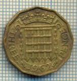 9790 MONEDA -MAREA BRITANIE - THREE PENCE -anul 1962 -starea care se vede