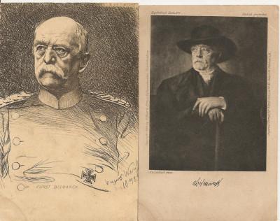 Bismarck  - lot 2 carti postale vechi ( G. Heuer & Kirmse - Germania ) foto