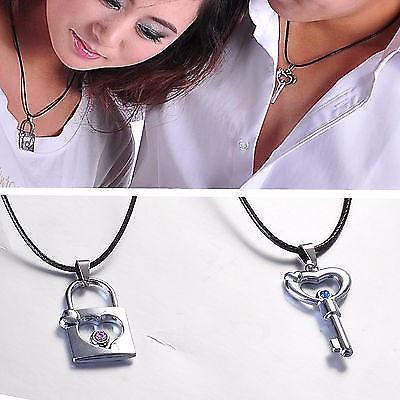 Pandantiv / Colier / Lantisor -  Cuplu -  Romantic - Lacat + Cheie