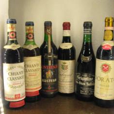 6 sticle vin vechi, lotto ( SUPER ) RECOLTARE 1959/1961/1966/1966/1969/1969 - Vinde Colectie, Aroma: Sec, Sortiment: Rosu, Zona: Europa