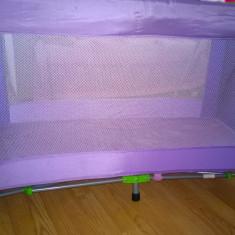 Patut pliabil Zippy - Patut pliant bebelusi Lorelli, 120x60cm, Violet