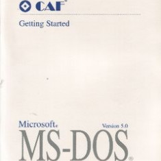 Microsoft Corporation MS-DOS 5.0 - Getting started; User's guide & reference
