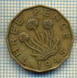 9795 MONEDA -MAREA BRITANIE - THREE PENCE -anul 1945 -starea care se vede