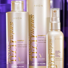 Set Sampon Avon+balsam+spray pentru volum