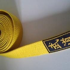 Centura galbena pentru kimono sport Karate / judo, Marca JOYA, coton 100%, 280cm