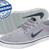 Adidasi barbat Nike SB Portmore - adidasi originali - piele naturala - Adidasi barbati Nike, Marime: 40.5, Culoare: Gri, Piele intoarsa
