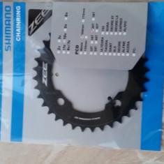 Shimano Zee foaie aluminiu DH, MTB 36t - BCD104mm - Piesa bicicleta Shimano, Pinioane filet/caseta
