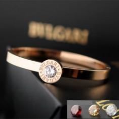 Bratara Bvlgari 3 cristale, 24Kgp - Bratara placate cu aur