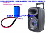 Cumpara ieftin LICHIDARE STOC! BOXA KARAOKE TROLER PE ROTI,AMPLIFICATA,MIXER,MP3 USB,MICROFON.