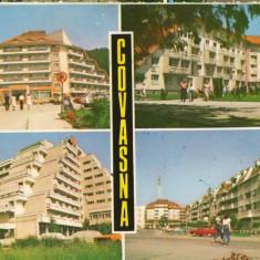 CPI (B8260) CARTE POSTALA - COVASNA. HOTEL BRADUL, SPITALUL CARDIO-VASCULAR.... - Carte Postala Maramures dupa 1918, Circulata, Fotografie