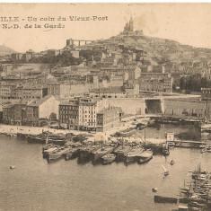 Franta - Marseille - lot 2 carti postale - 1919, Circulata, Printata, Europa