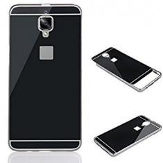 Bumper aluminiu + spate acril negru One Plus 3 - Bumper Telefon