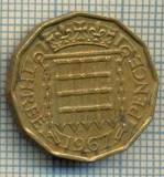 9791 MONEDA -MAREA BRITANIE - THREE PENCE -anul 1967 -starea care se vede