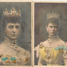 Anglia - Queen Alexandra - lot 2 carti postale vechi, Necirculata, Printata, Europa