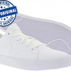 Adidasi barbat Nike Primo Court - adidasi originali - piele naturala - Adidasi barbati Nike, Marime: 45.5, Culoare: Alb