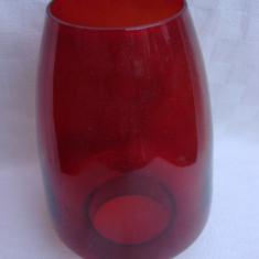 Frumos salic sau abajur pentru lampa din sticla rosie, Lampi