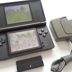 Consola joc Nintendo DS Lite + discheta + accesoriu GBA + incarcator original - Consola Nintendo