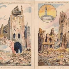 Franta - Les Monuments Victimes de la Guerre - lot 7 carti postale vechi, Necirculata, Printata, Asia