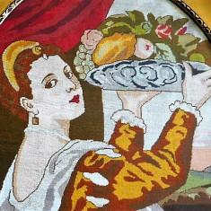 GOBLEN - TABLOU MARE DEOSEBIT NOBILA CU FRUCTE - Tapiterie Goblen