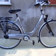 Bicicleta gazelle orange comfort - Bicicleta Trekking, 20 inch, 28 inch, Numar viteze: 7