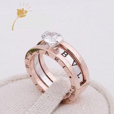 Inel Diamond Lady Bvlgari - Inel placate cu aur