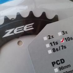 Shimano Zee foaie aluminiu DH, MTB 34t - BCD104mm - Piesa bicicleta Shimano, Pinioane filet/caseta