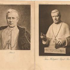 Papa Pius X - lot 2 carti postale vechi ( G. Heuer & Kirmse - Germania ), Necirculata, Printata, Europa