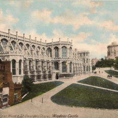 Anglia - Castelul Windsor - lot 3 carti postale vechi, Necirculata, Printata, Europa