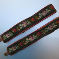 C Bretele de costum popular vechi sasesc german, lucrate integral manual