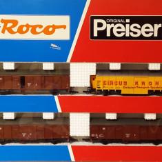 Set vagoane 'Circus Krone' Roco 44009, scara H0 / 1:87 / 16, 5 mm - Macheta Feroviara