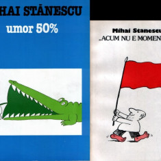Mihai Stănescu - 2 albume de caricaturi + 1 afiş