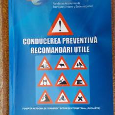 CONDUCEREA PREVENTIVA RECOMANDARI UTILE - FATII-ARTRI