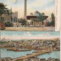 Constantinopol ( Istanbul ) - lot 3 carti postale - 1911, Circulata, Fotografie, Asia