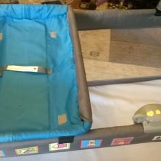 Patut copii - Patut pliant bebelusi Caretero, 140x70cm, Albastru
