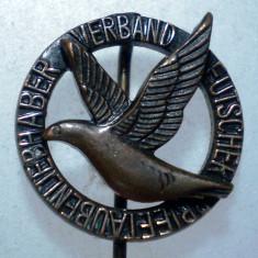 I.099 GERMANIA STICKPIN PORUMBEL POSTA Verband Deutscher Brieftaubenliebhaber - Insigna, Europa