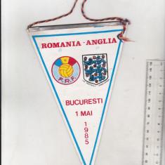 bnk div Fanion Romania - Anglia - Bucuresti 1985
