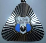 I.258 BRELOC ROMANIA SPORT CLUB FOTBAL INDUSTRIA LANII TIMISOARA h31mm