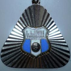 I.258 BRELOC ROMANIA SPORT CLUB FOTBAL INDUSTRIA LANII TIMISOARA h31mm - Breloc Barbati