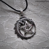 Pandantiv argint Pentagramă cu dragon - Pandantiv fashion