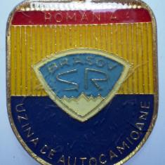 I.255 BRELOC ROMANIA AUTO AUTOCAMION SR STEAGUL ROSU BRASOV h37mm - Breloc Barbati
