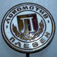 I.166 INSIGNA STICKPIN BULGARIA SPORT FOTBAL LOKOMOTIV PLEVEN PLEVNA h42mm, Europa