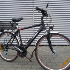 Bicicleta MIFA - Bicicleta Trekking, 28 inch, Numar viteze: 18