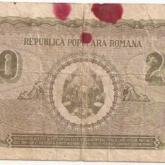 ROMANIA 20 LEI 1950 U - Bancnota romaneasca