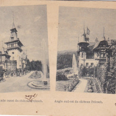 SOUVENIR DE SINAIA CASTELUL PELES FATADA EST SI SUD-EST CLASICA CIRC. 1899 - Carte Postala Muntenia pana la 1904, Circulata, Printata