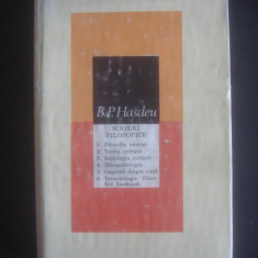 B. P. HASDEU - SCRIERI FILOSOFICE - Filosofie